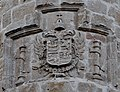 Imperial Coat of Arms of Charles V in the facade of Saints Johns Church, Nava del Rey.jpg