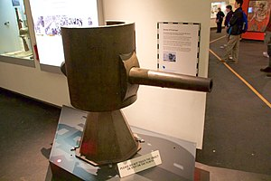 "A7V - 5.7-cm Maxim-Nordenfelt gun from A7V ""Schnuck"", at the Imperial War Museum, Manchester, UK"