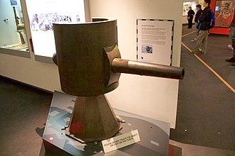 """A7V - 5.7-cm Maxim-Nordenfelt gun from A7V """"Schnuck"""", at the Imperial War Museum, Manchester, UK"""