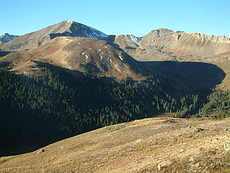 Southern Rocky Mountains - View from Independence Pass in Colorado.