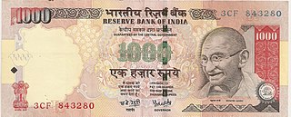 Indian 1000-rupee note
