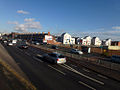 Infusion Homes and Bowes Street from Princess Road in Moss Side, Manchester, UK.jpg