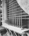 interieur- de torenfundering wordt verstevigd door een gordel van voorgespannen beton - brielle - 20042592 - rce