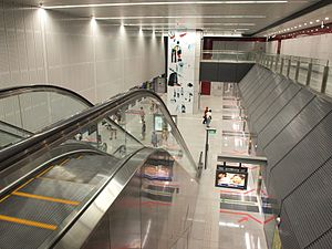 Interior of Holland Village MRT Station - 20111008.jpg