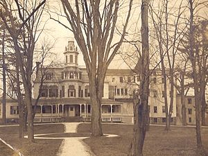 Anna Elizabeth Dickinson - The main building, Berdell mansion, of the Interpines sanitarium, Goshen, New York.