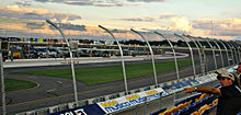 An image from the grandstand at Iowa Speedway.