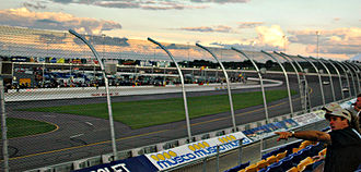 Newton, Iowa - An image from the grandstand at Iowa Speedway.