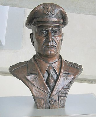Ira C. Eaker - Bust of General Eaker at the Imperial War Museum Duxford