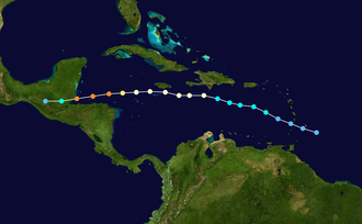 Hurricane Iris - Image: Iris 2001 track