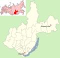 Irkutsk oblast with Vitim bolide impact site.png