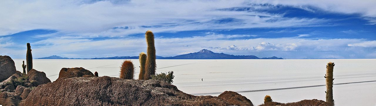 Salar de Uyuni, one of the most visited sites in Bolivia.[147]