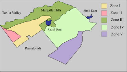 Islamabad Zones Islamabad Zone Map.png