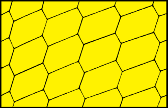 Conway criterion - A hexagonal tiling with centrosymmetric hexagons