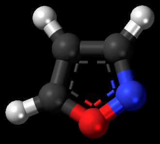 Isoxazole - Image: Isoxazole 3D balls