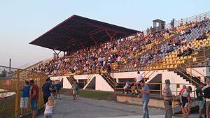 Stadion ŠRC Zaprešić - Image: Istočna tribina Inter Hajduk