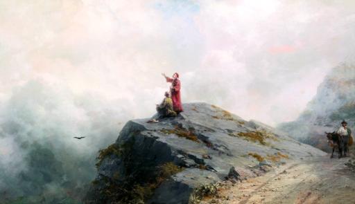 Ivan Aivazovsky - Dante Shows an Artist Some Unusual Clouds 02