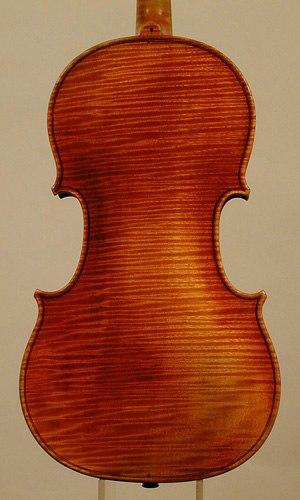 """Jean-Baptiste Vuillaume - """"Le Messie"""" Stradivarius 1860, back"""