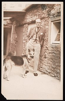 J.R. Ackerley and his dog Queenie.jpg