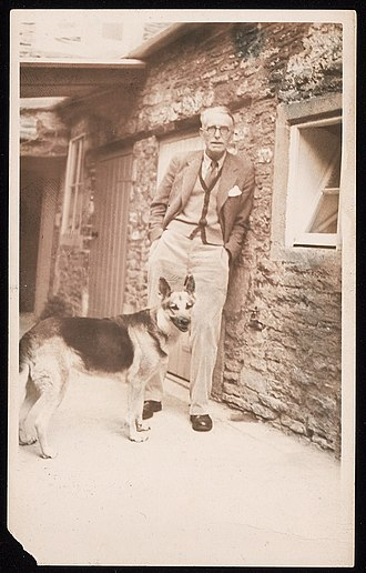 J. R. Ackerley - Donald Windham and Sandy Campbell papers/Beinecke 10541998. J.R. Ackerley and his dog Queenie