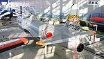 JASDF T-33A(71-5239) fuselage section left rear top view at Hamamatsu Air Base Publication Center November 24, 2014.jpg