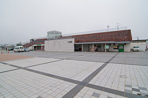 Ōishida Station - The east entrance in October 2010
