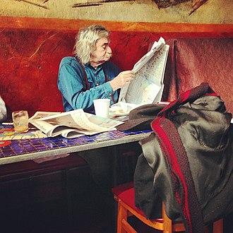 Jack Hirschman - Jack Hirschman at Caffe Trieste