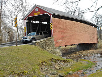 Hamiltonban Township, Adams County, Pennsylvania - Image: Jacks Mtn Covered Bridge Adams Co PA