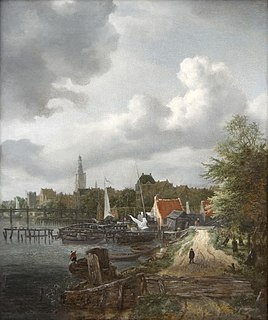 <i>View of the Binnenamstel at Amsterdam</i> painting by Jacob van Ruisdael