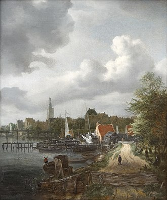View on the Amstel from Amsteldijk - Image: Jacob van Ruisdael Vue d'Amsterdam