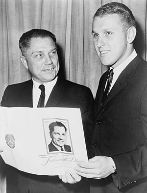 James P. Hoffa - James P. Hoffa (right) with his father