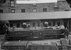 James Spooner locomotive engine, Ffestiniog railway NLW3363949.jpg