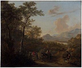 Travelers in an Italian Landscape