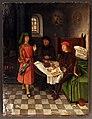 Jan mostaert (attr.), giuseppe spiega il sogno del fornaio e del coppiere, 1500 ca.jpg