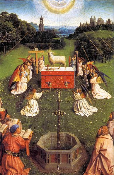 File:Jan van Eyck - The Ghent Altarpiece - Adoration of the Lamb (detail) - WGA07658.jpg