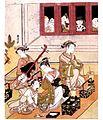 Japan Ukiyo-é Painting Courtisanes à la vue du public 1769 Suzuki Harunobu (4801277229).jpg