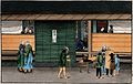 Japanese funeral customs; outside the dead man's house Wellcome V0046658.jpg