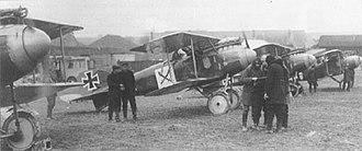 Jagdstaffel 9 - The Jasta 9 flightline in France.