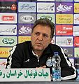 Javad Zarincheh in press conference before Padideh-Esteghlal match.jpg