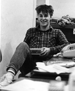 Julian Rignall - Rignall at ZZAP! 64 offices in Somerset, 1985