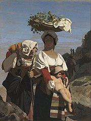 two Italian peasant women and a Child