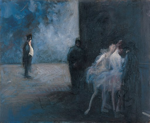 Jean-Louis Forain - Backstage―Symphony in Blue - Google Art Project