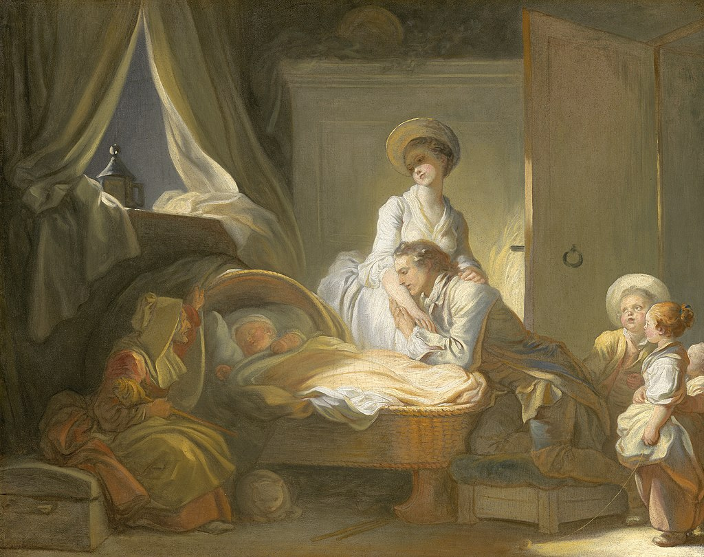 Jean Honoré Fragonard, The Visit to the Nursery, c. 1775, NGA 32685.jpg; Art Advent Calendar