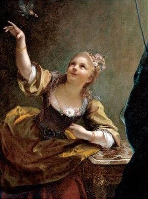 Jean Raoux - Image: Jean Raoux – Jeune fille qui fait voler un oiseau 1717