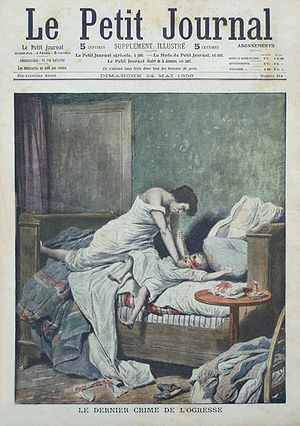 Cover of Le Petit Journal, May 24, 1908, paint...