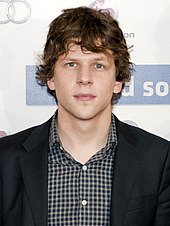 Eisenberg at the Madrid premiere of The Social Network, October 2010