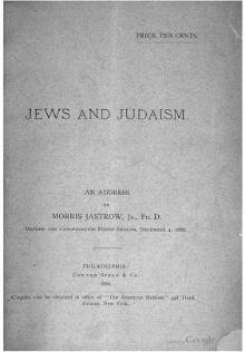 Jews and Judaism (Morris Jastrow).djvu