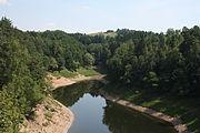 Jezioro Pilchowickie widok z mostu kolejowego (3).JPG