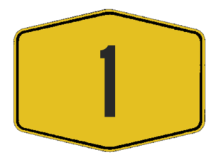 Highway shield - A typical Malaysian federal road shield.