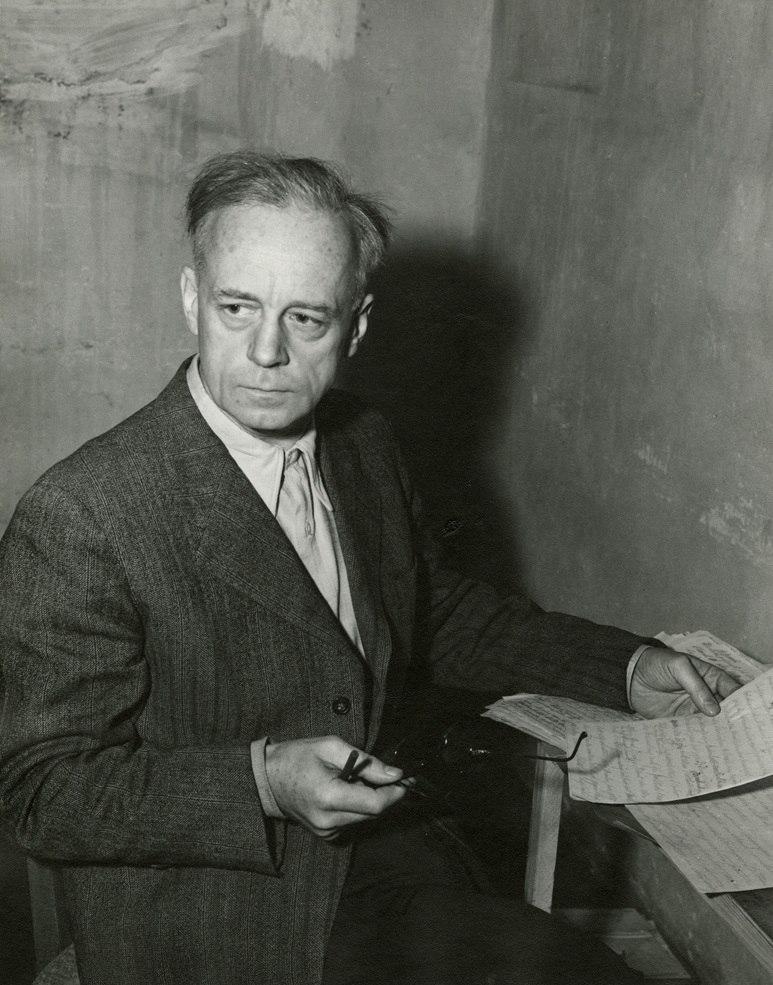 Joachim von Ribbentrop in his cell Nuremberg Trials 1945.jpeg
