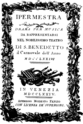 Johann Gottlieb Naumann - Ipermestra - titlepage of the libretto - Venice 1774.png